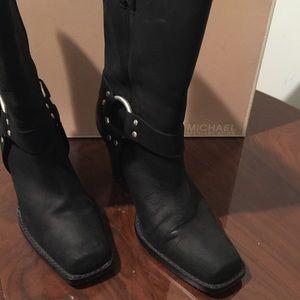 Michael Kors Black Freida Motorcycle Boot Size 10